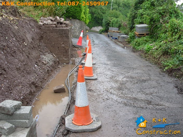 Retaining Wall Construction Cork with K&K Construction Tel:0872450967