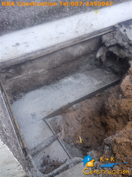 Subsidence Repairs Specialist Cork with K&K Construction Tel:087-2450967