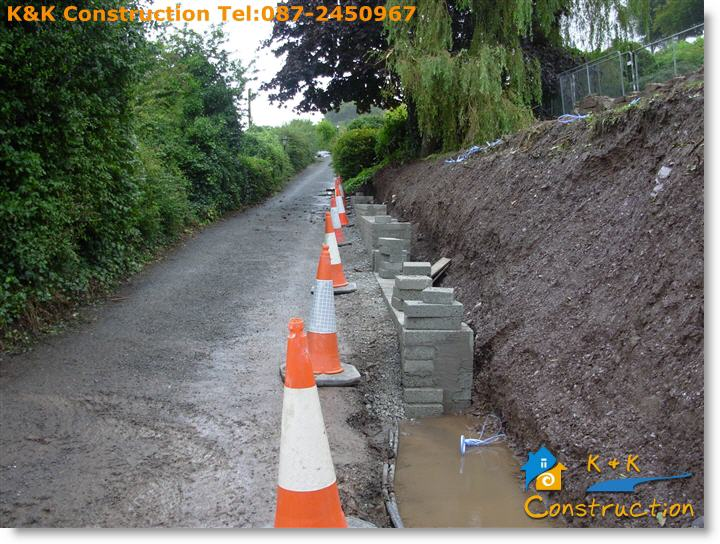 Retaining Wall Construction Cork with K&K Construction Tel:087-2450967