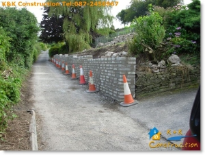 Retaining Wall Construction Cork with K&K Construction Tel:087-2450967